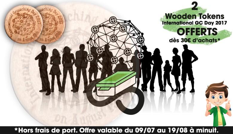 2 Wooden Tokens exclusifs offerts dès 30€ jusqu'au 19 août !
