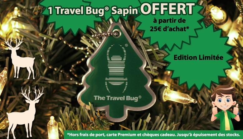 """Un Travel Bug """"sapin"""" offert pour toute commande de + de 25€"""