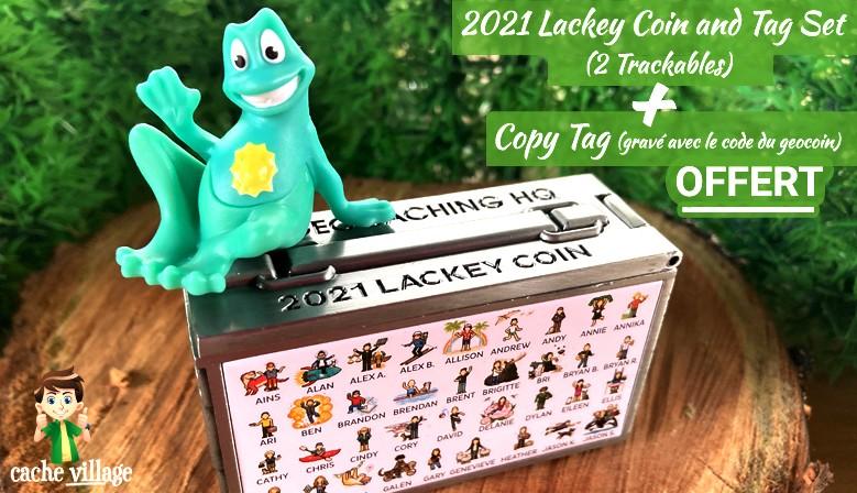 Le Géocoin Lackey 2021 est disponible ! En + : un copy tag offert.