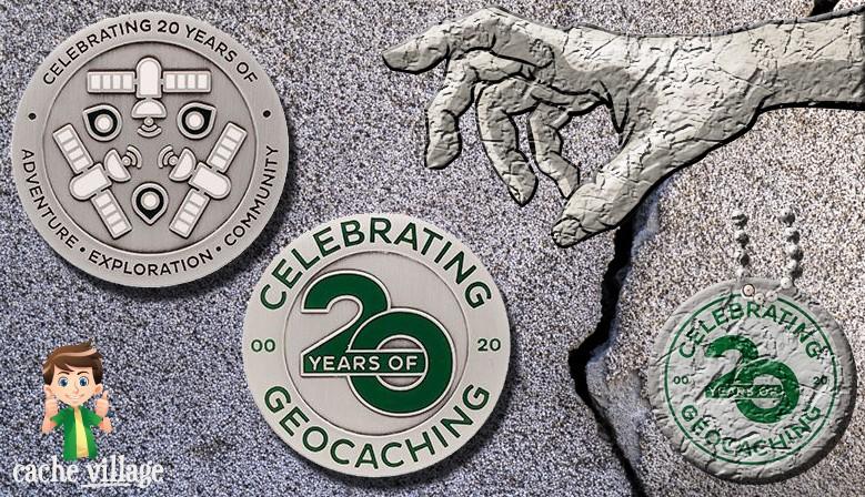 Célébrez les 20 ans du Geocaching avec le géocoin officiel