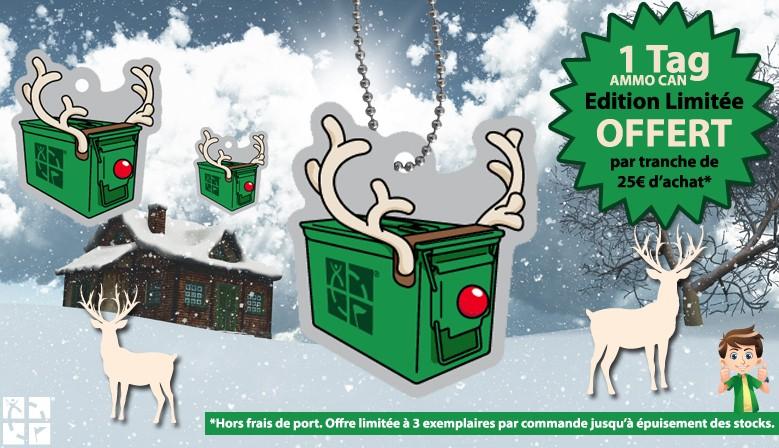 Bientôt Noël : 1 Tag OFFERT par tranche de 25€ d'achat !
