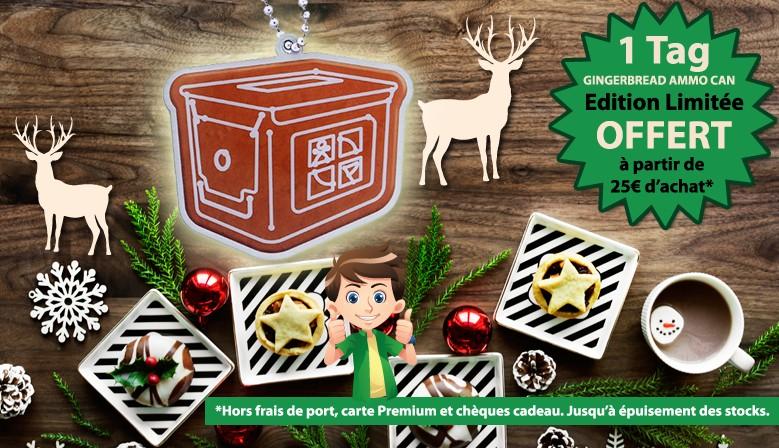 Cadeau ! Un tag Gingerbread Ammo Can OFFERT dès 25€ d'achat