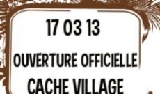 Lancement de Cache Village