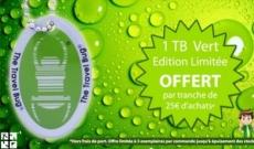 Offre spéciale : recevez un Travel Bug vert par tranche de 25€ d'achats !