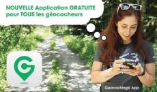 Une nouvelle application gratuite pour les géocacheurs !