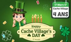 17 Mars 17 : Cache Village a 4 ans !