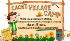 Le premier CacheVillage'Camp est ouvert ! Rendez-vous du 16 au 20 avril 2018